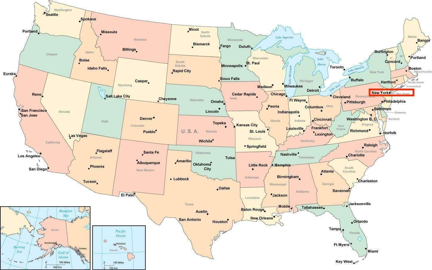 usa kart new york New York amerika kart   New York på amerikansk kart (New York   USA) usa kart new york