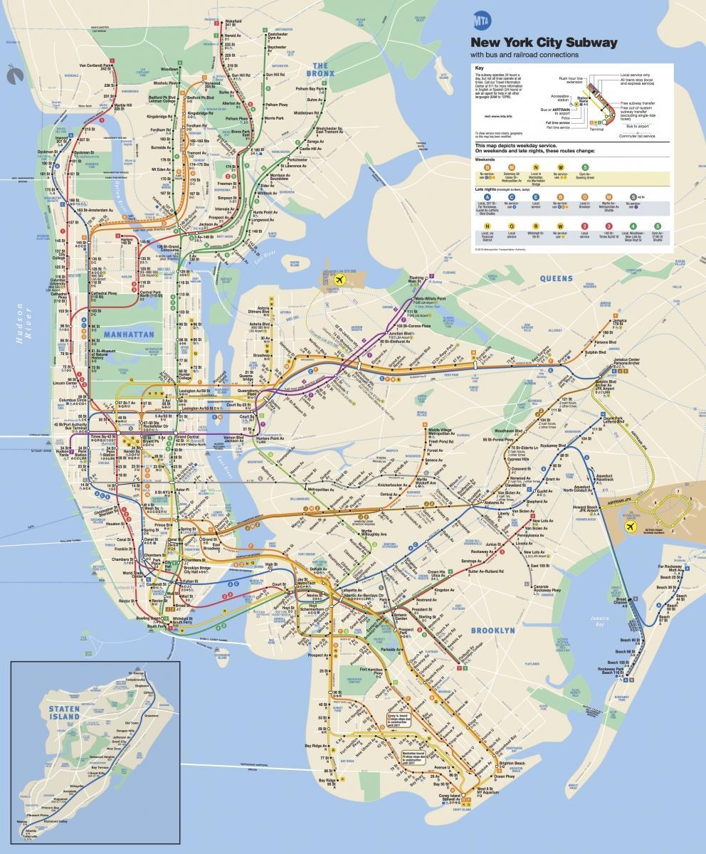 oppdatert kart Oppdatert NYC t kart   Oppdatert t kart (New York   USA) oppdatert kart