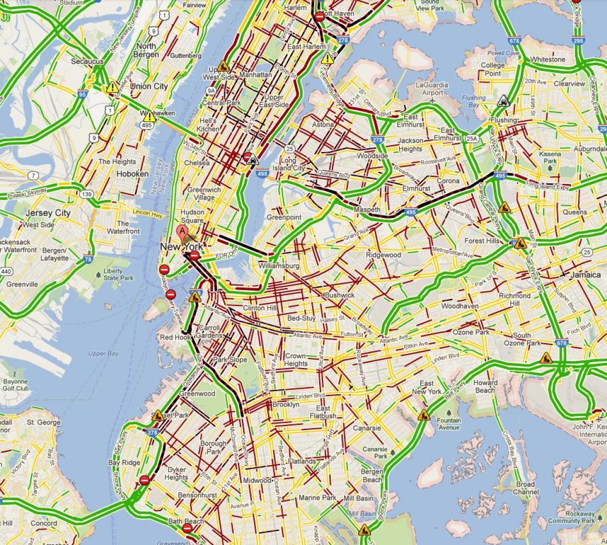 trafikk kart NYC trafikk kart   New York trafikk kart (New York   USA) trafikk kart